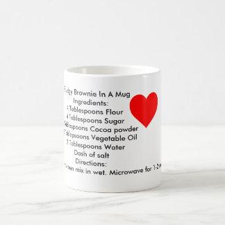 Brownie In A Mug Directions (On a mug)