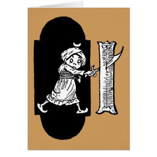 Brownie in Keyhole Stabs Monogram I Card