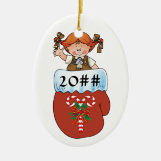 Brownie Mitten Redhead Ceramic Ornament