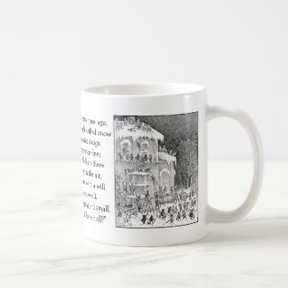 Brownie que adornan la casa para el invierno taza clásica