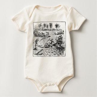 Brownie que luchan cocodrilos body de bebé