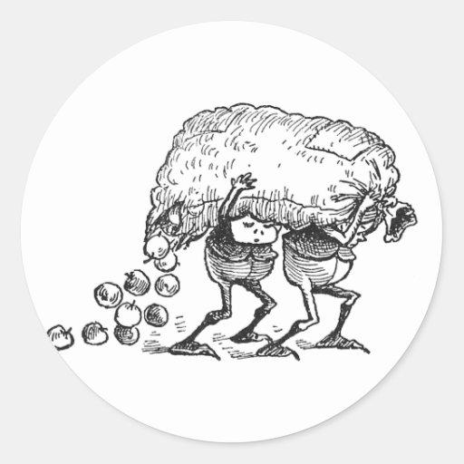 Brownie que pierden manzanas pegatina redonda