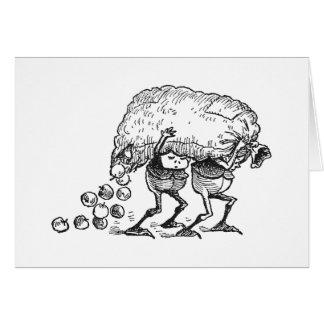 Brownie que pierden manzanas tarjeta de felicitación