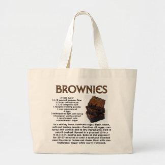 Brownie Recipe Large Tote Bag