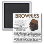 Brownie Recipe Refrigerator Magnets