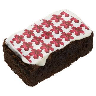 Brownie rojos del estampado de plores docena del