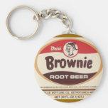 brownie root beer keychain