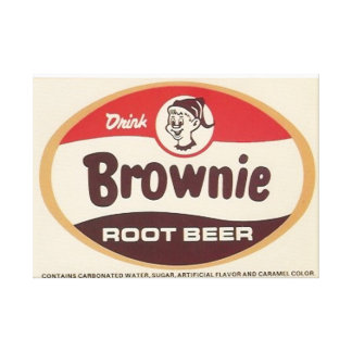 Brownie Root Beer Wrapped Canvas