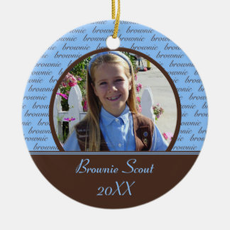 Brownie Scout Photo Ornament