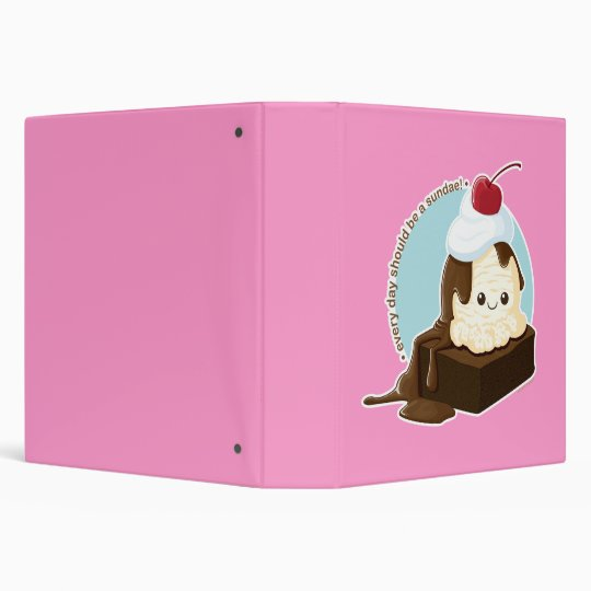 Brownie Sundae 3 Ring Binder