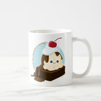 Brownie Sundae Classic White Coffee Mug