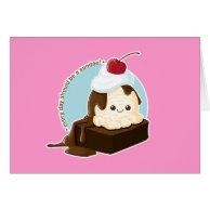 Brownie Sundae Greeting Cards