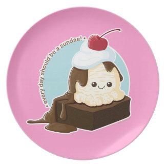 Brownie Sundae Party Plates