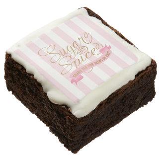 Brownie temáticos del azúcar y de la especia