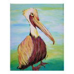 Brownie the Pelican Poster