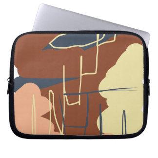 Brownie Town Colors Laptop Computer Sleeves