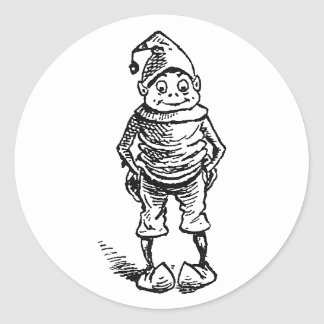 Brownie with Hands in Pockets Classic Round Sticker