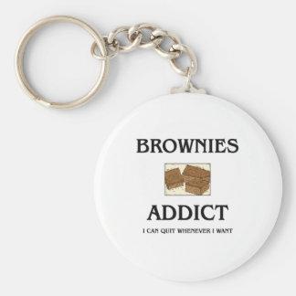Brownies Addict Basic Round Button Keychain