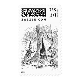 Brownies and Woodchuck in Tree Postage