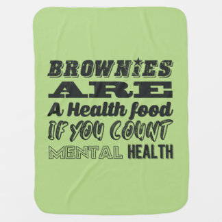 Brownies are a health food swaddle blanket