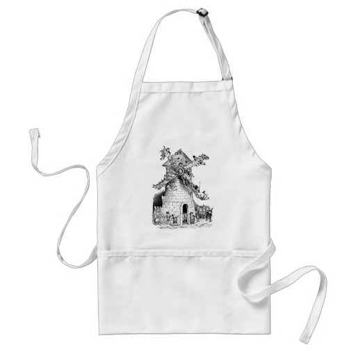 Brownies at a Windmill in Holland Adult Apron