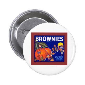 Brownies Brand California Oranges Button