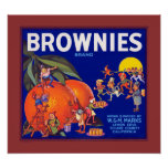 Brownies Brand California Oranges Poster