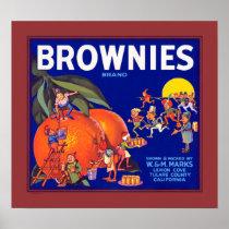 Brownies Brand California Oranges