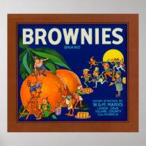 Brownies Brand Citrus Crate Label