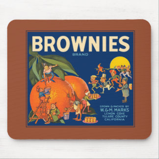 Brownies Brand Orange Crate Label Mousepad