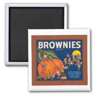 Brownies Brand Vintage Fruit Crate Label Magnet