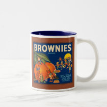 Brownies Brand Vintage Fruit Crate Label Two-Tone Coffee Mug