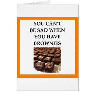 BROWNIES CARD