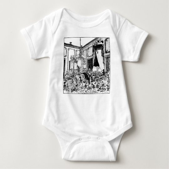 Brownies in White House Bed of State Baby Bodysuit