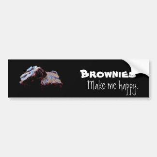 Brownies Make Me Happy Bumper Sticker