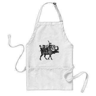 Brownies riding Reindeer Adult Apron