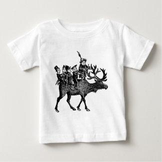 Brownies riding Reindeer Baby T-Shirt