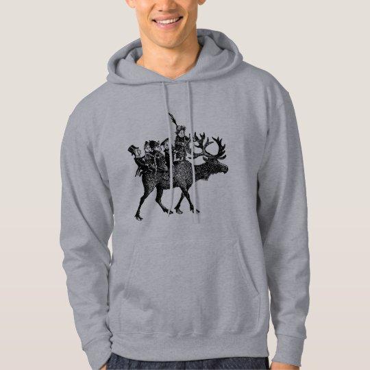 Brownies riding Reindeer Hoodie