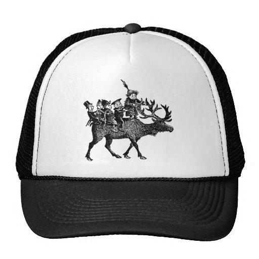 Brownies riding Reindeer Trucker Hat