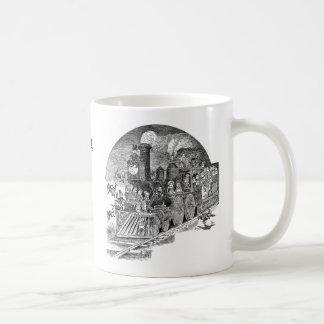 Brownies Riding Steam Locomotive Coffee Mug