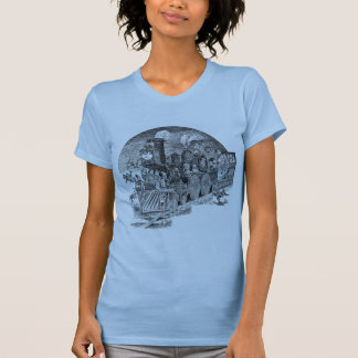 Brownies Riding Steam Locomotive T-Shirt