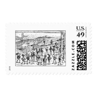 Brownies Spot Stranded Whale Stamp
