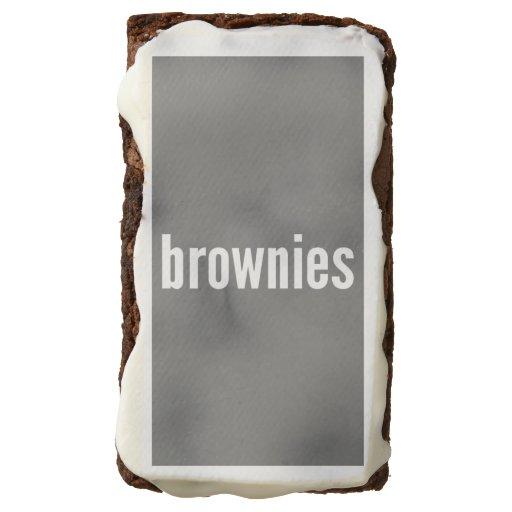 Brownies Vertical Fit Template Rectangular Brownie Zazzle