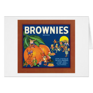 Brownies Vintage Fruit Label Card
