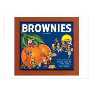 Brownies Vintage Fruit Label Postcard