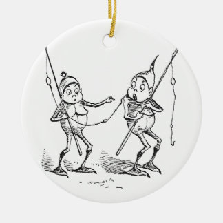 Brownies With Fishing Poles Christmas Ornament