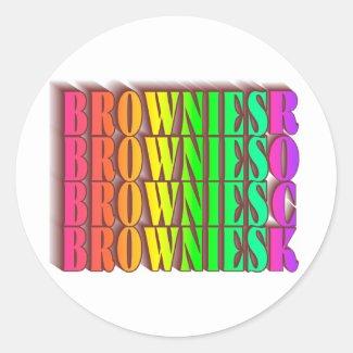 BROWNIESROCK CLASSIC ROUND STICKER