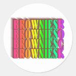 BROWNIESROCK ROUND STICKERS