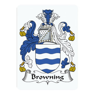 Browning Family Crest Card