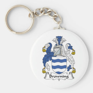Browning Family Crest Keychain